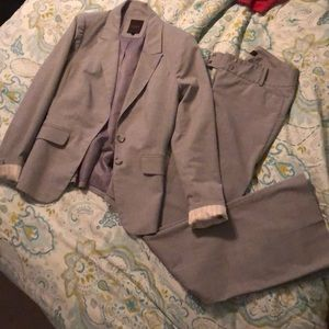 Light grey pant suit!